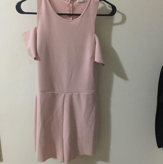 Light Pink Romper From Zara