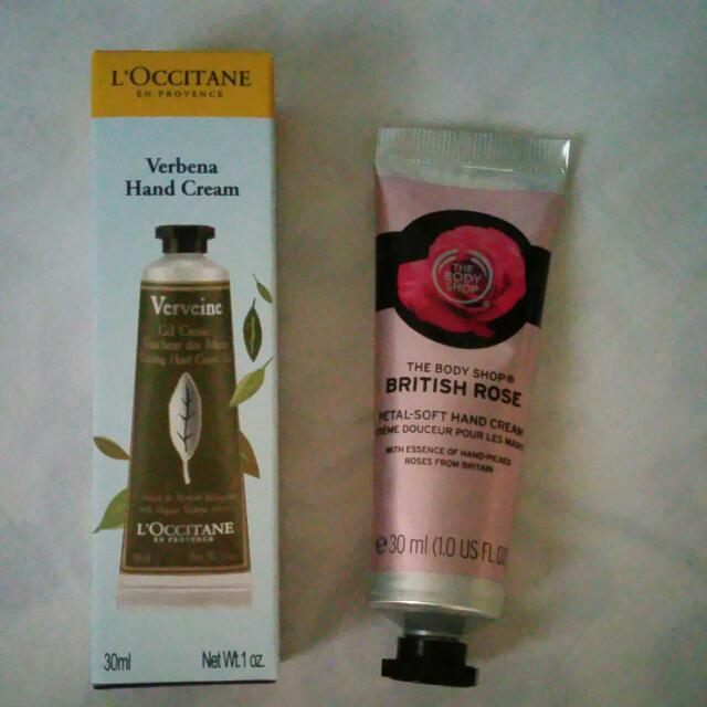 Loccitane & Body Shop Hand Cream (2 Pcs)
