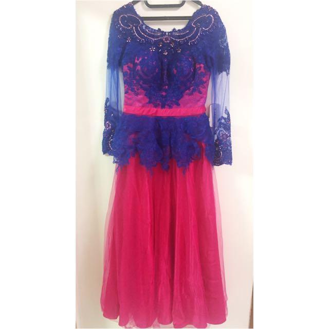 Long Dress Fuschia Electric