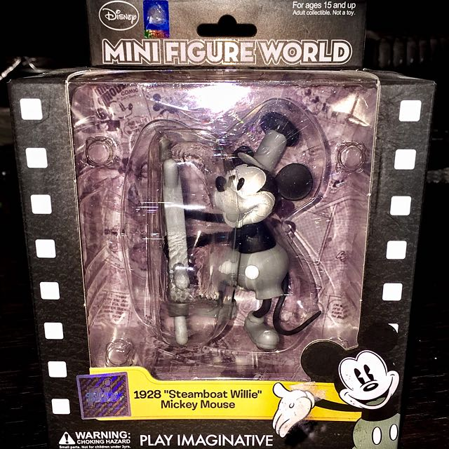 "Mini Figure World: 1928 ""Steamboat Willie"" Mickey Mouse"