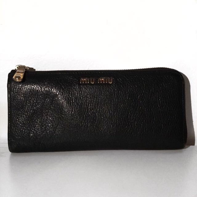 Miu Miu Black Leather Wallet