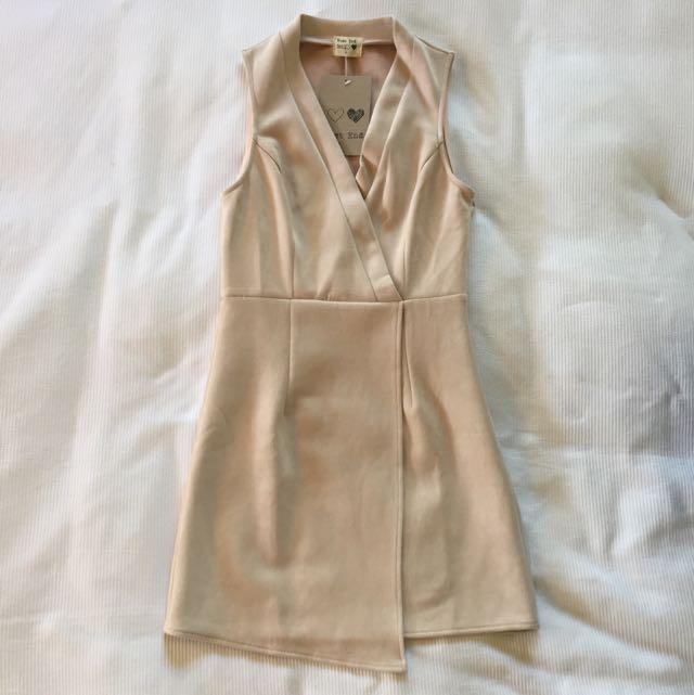 Nude Suede Dress Size 8