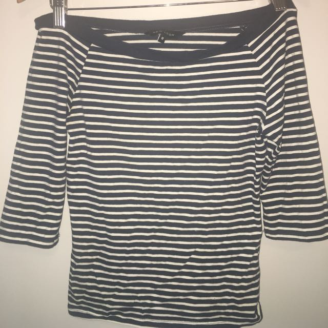 Off The Shoulder Striped Shirt