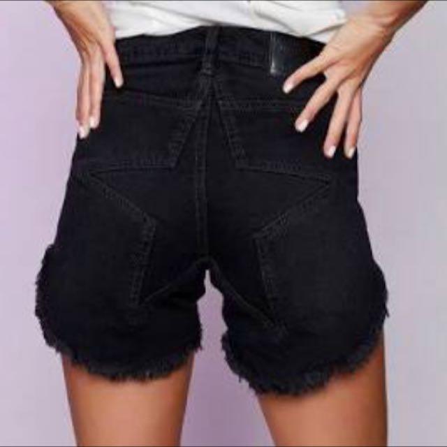 One Teaspoon Black Corduroy Juliette's shorts