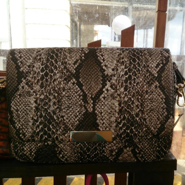 REPRICED!!! Parfois Snake Skin Sling Bag Authentic
