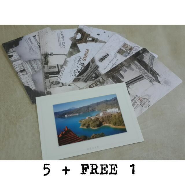 Paris London Postcard Set / Kartu Pos Dunia
