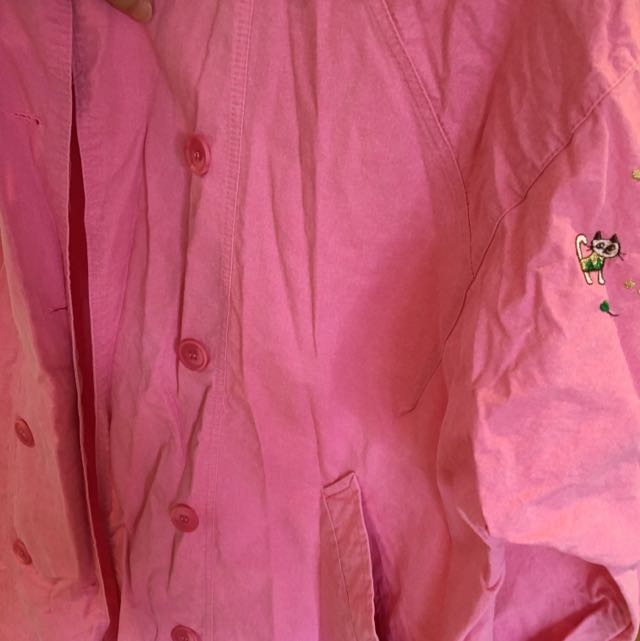Pink Oversize Jacket From Korea
