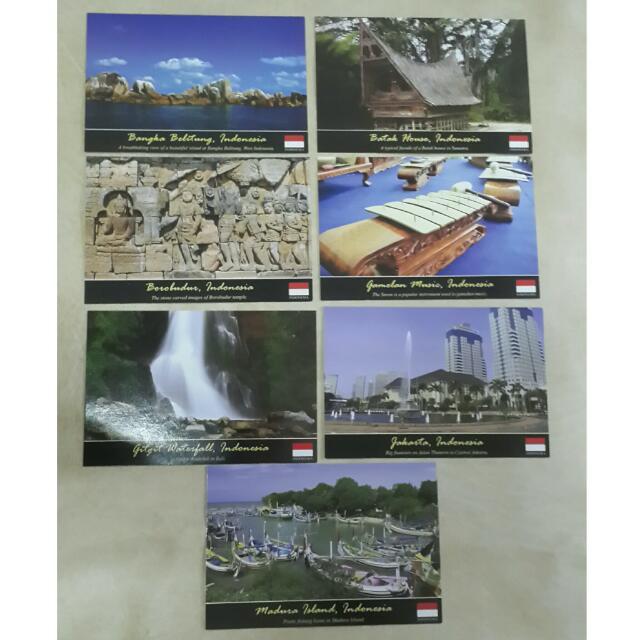 Premium Indonesian Postcards / Kartu Pos Indonesia