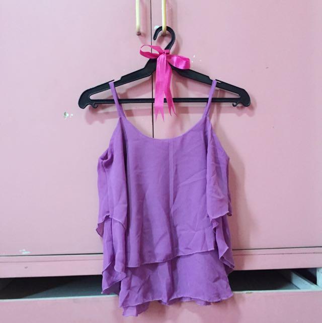 Purple Chiffon Top