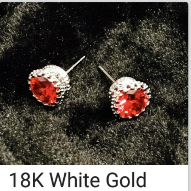 (R) 18k White GOLD clad. Imperial Austrian crystal! Stud earrings. MSRP $495! ON SALE $125!!!!! Not kidding!  PayPal USPS.