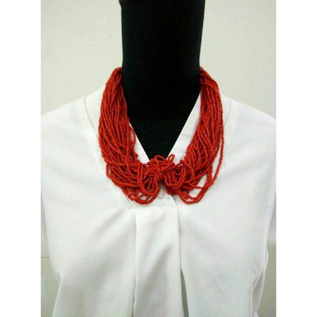 Red Classic Necklace