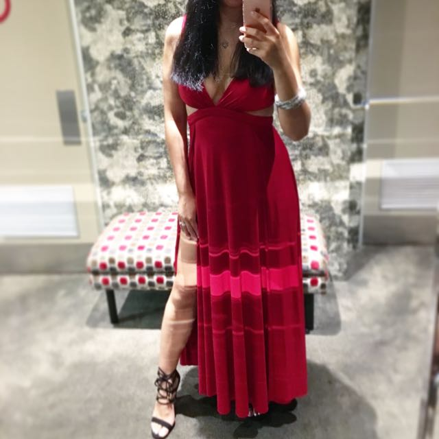 Red Maxi Cocktail Dress