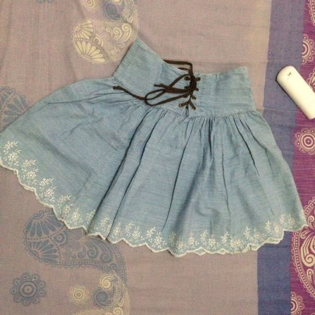Rok Mini Denim