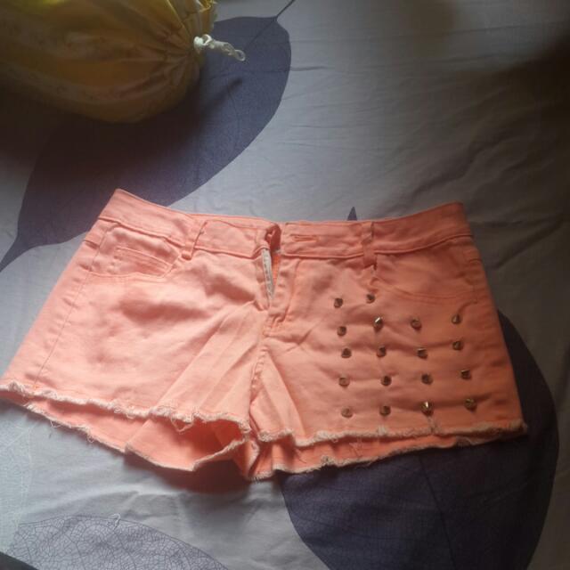 Shocking Pink Hot Pants F21