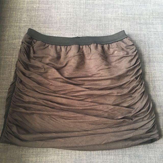 Side Ruffled Miniskirt