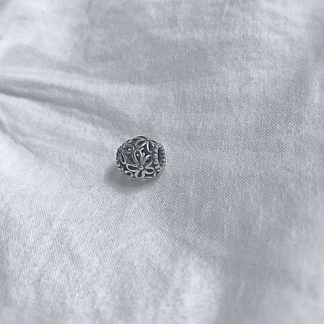 Silber Flower Pandora Charm