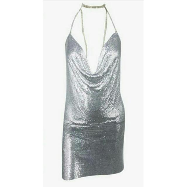 Silver Mesh Posie Dress Love Story Boutique