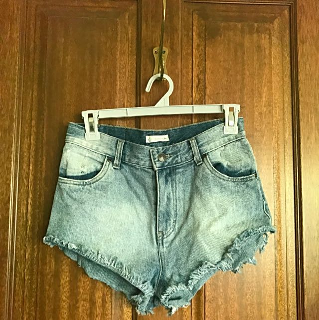 Size 8 Rusty high rise denim shorts
