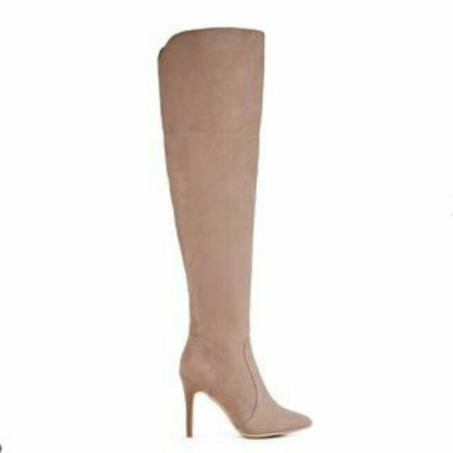 Taupe Knee High Boots (Just Fab)