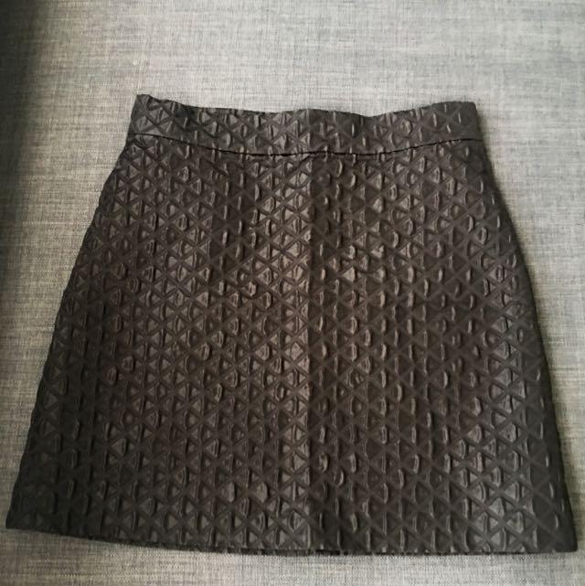 Topshop Textured A-Line Skirt