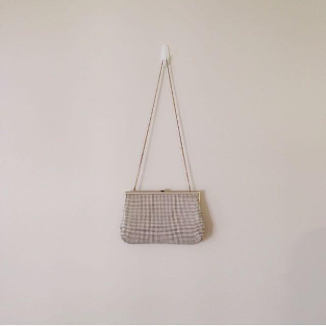 Vintage Cream Glomesh Bag
