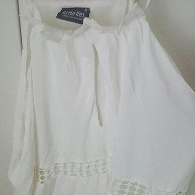White Shift Dress. Size Small