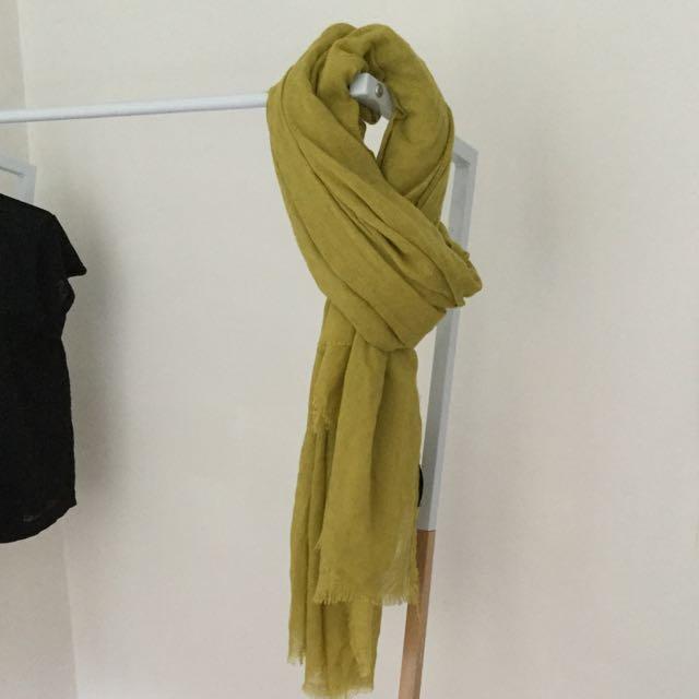 Zara mustard scarf