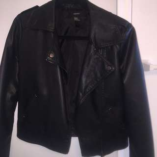 Black Faux Leather Jacket Forever 21