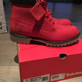 Red All Star Timberlands