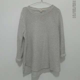 H&M - knit sweatshirt white