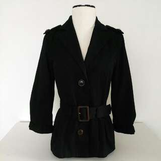 H&M Cotton Twill Belted Jacket