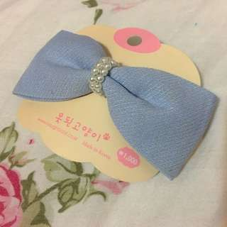 韓國購入 蝴蝶結 髮夾