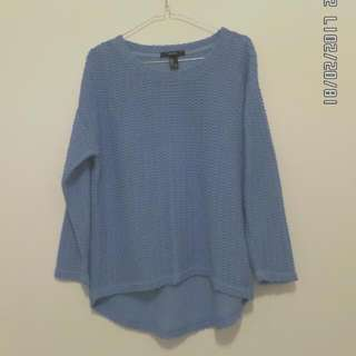 forever21 - knit sweatshirt blue