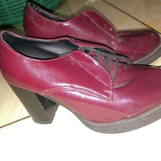 Maroon Ankle Boot