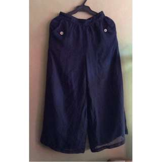 Cullotes / Bohemian Style Wide Leg Chiffon Culottes Loose Pants