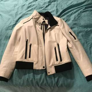 White Danier Leather Jacket