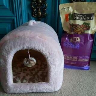 Brand New Bed & Kitten Food
