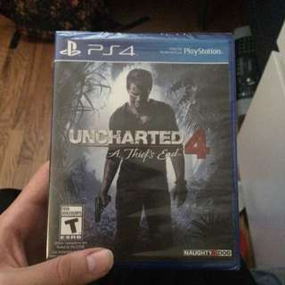 Uncharted 4 ps4 unopened