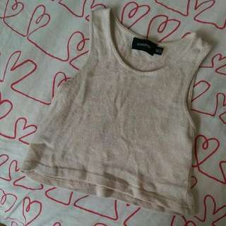 XS Minkpink Tan Crop top