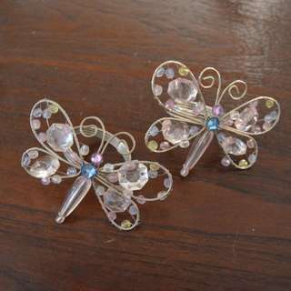 Beaded Butterfly napkin rings