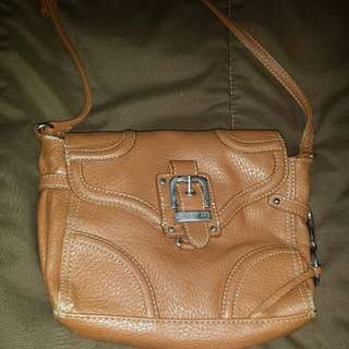 Tan In Colour Cross-Body Leather Nine West Small Purse