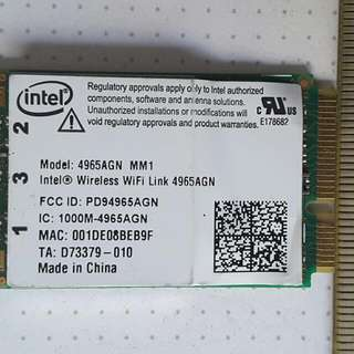 Intel Wireless Wifi Link 4965agn Card