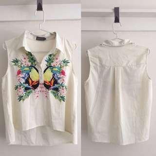 Indikah Cropped Short-sleeve Shirt