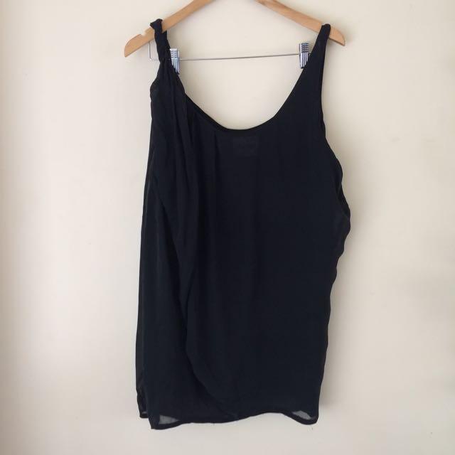 100% Silk Acne Drape Dress