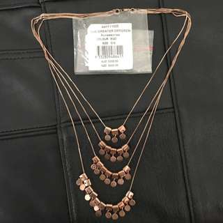 Sass And Bide Rose Gold Necklace