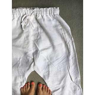 Assembly Label Drop Crotch Pants Sz 8