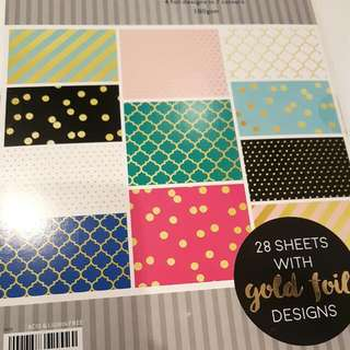 Gold Foil Design Papers