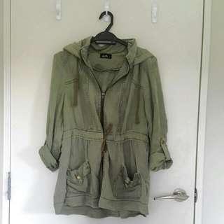 Parka (Dotti, Khaki Green, Size 8)