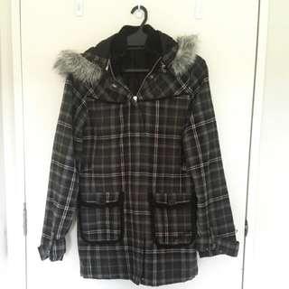 Grey Checkered Coat (Billabong)