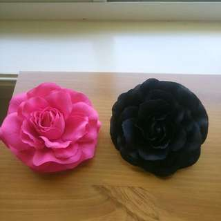 Large Rose Hair Clips (or Broaches)